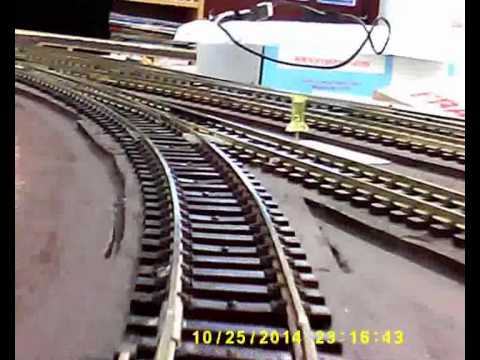 Brecon Station model railway layout testing – 25OCT14-2 – Peco LK-55 Turntable