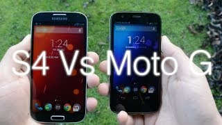 Motorola Moto G vs Samsung Galaxy S4