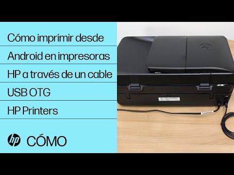 Cómo imprimir desde Android en impresoras HP a través de un cable USB OTG | HP Printers | HP
