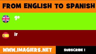SPANISH TO ENGLISH = ir
