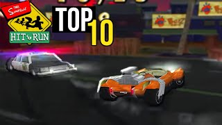 Top 10 Hardest Simpsons Hit & Run Missions