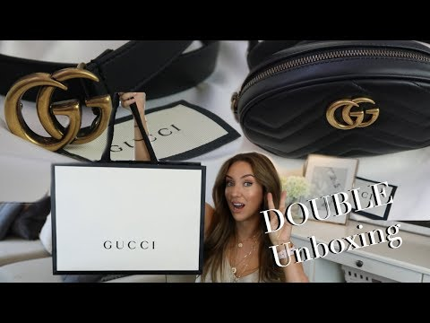 DOUBLE GUCCI Unboxing GG Belt And Marmont Bag | Lisa Gregory