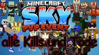 Minecraft Sky PvP-Event 2 Highlights - alle Kills und Tode - MPZ
