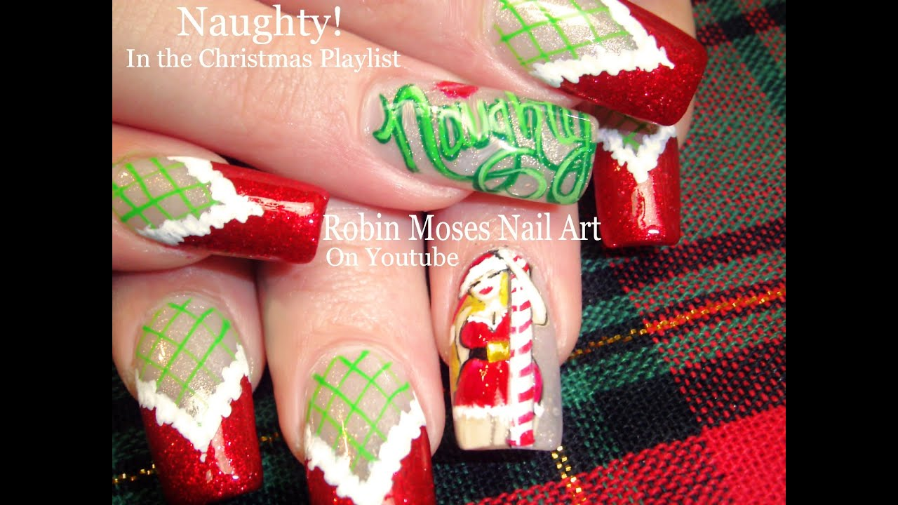 Diva christmas nails diy naughty mrs clause stockings nail diva christmas nails diy naughty mrs clause stockings nail art design youtube prinsesfo Choice Image