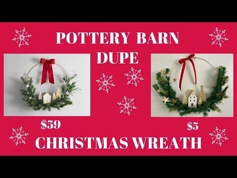 CHRISTMAS WREATH DIY POTTERY BARN DUPE