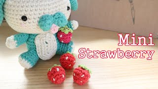 A cute yarn scrap project for you to crochet today, my miniature strawberry. A super easy and quick crochet project that is perfect for beginners. I used a DK/light ...