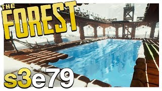 SWIMMING POOL UPGRADE! | The Forest Gameplay S3E79 (Alpha v0.62)