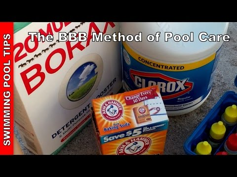 the bbb method using bleach baking soda borax to maintain your swimming pool youtube. Black Bedroom Furniture Sets. Home Design Ideas