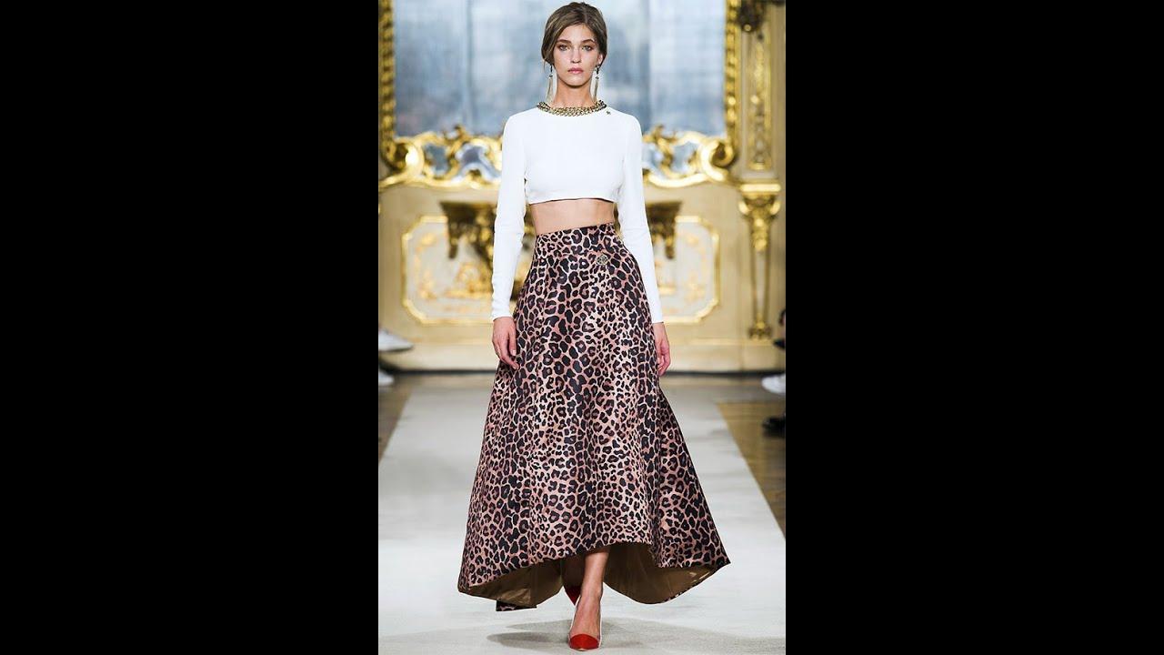 Модный силуэт юбки