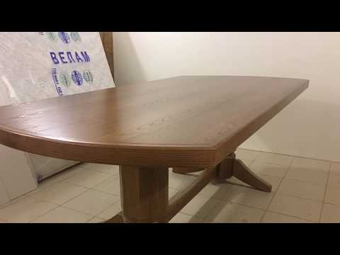 Большой стол в зал. 2100/1000мм. Ясень. Шпон.