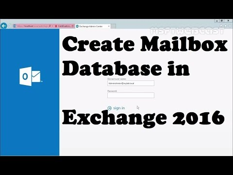 Create Mailbox Database In Exchange 2016