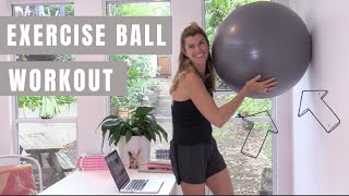 An Exercise Ball Workout at your desk