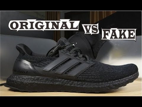 5ae3a684f Adidas Ultra Boost 3.0 Triple Black Original   Fake - YouTube