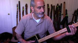 """How To Play """"Amazing Grace"""" On The Cigar Box Guitar  In GDG Tuning."""