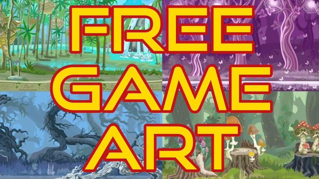 Free Game Art -- Full Game Kits - YouTube