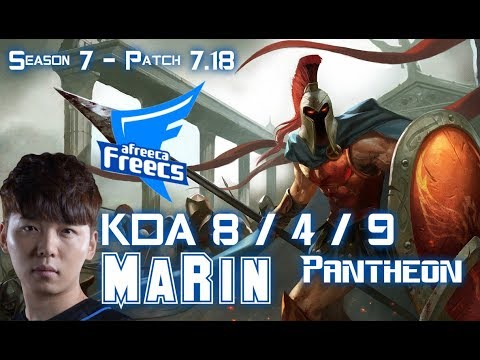AFs MaRin PANTHEON vs FIORA Top - Patch 7.18 KR Ranked