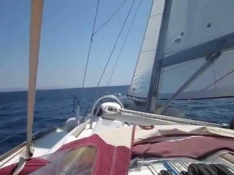 Sailing in Argo-saronic gulf