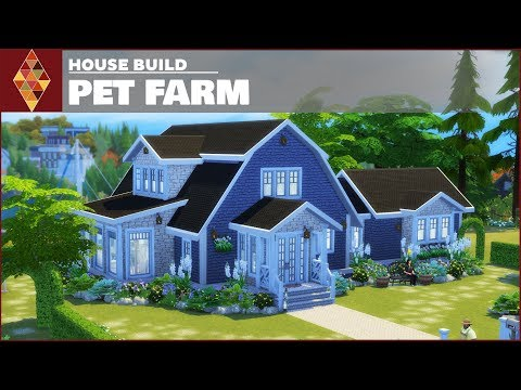The Sims 4 Cats and Dogs - House Build - Pet Farm | HD