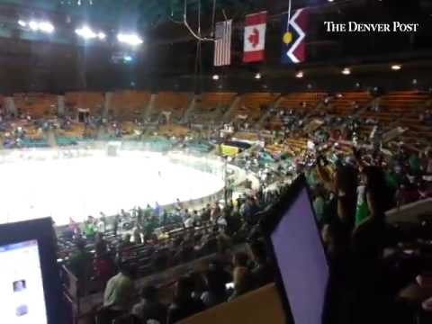 The scene at the Denver Coliseum when the Denver Cutthroats score.