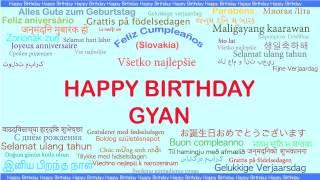 Gyan   Languages Idiomas - Happy Birthday
