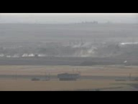 Smoke over Ras al-Ayn as Turkey assault goes on