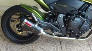 Hornet 2012 verde com ronco sinistro!!!