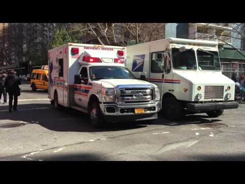 RARE CATCH OF A MAIMONIDES MEDICAL CENTER EMS AMBULANCE NOT FROM THIS AREA GIVES ME A WAVE IN NYC.