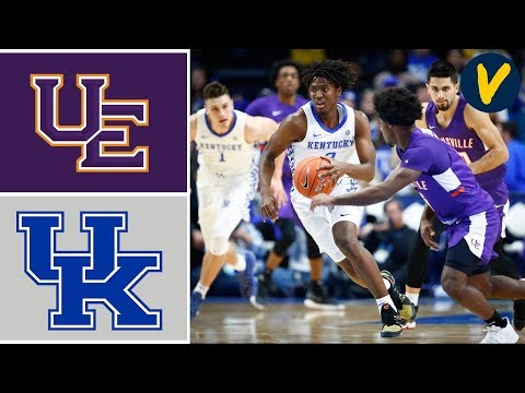 2019 College Basketball Evansville vs #1 Kentucky Highlights