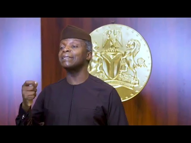 Vice President Osinbajo on the Cryptocurreny ban in Nigeria