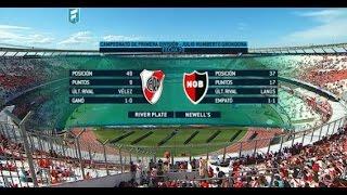 Fútbol en vivo. River - Newells . Fecha 30 Primera División 2015. FPT.