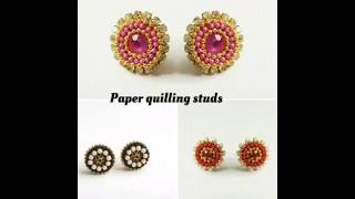 How to make quilling studs|DIY Quilling studs|Studs for jhumkas(Tutorial)