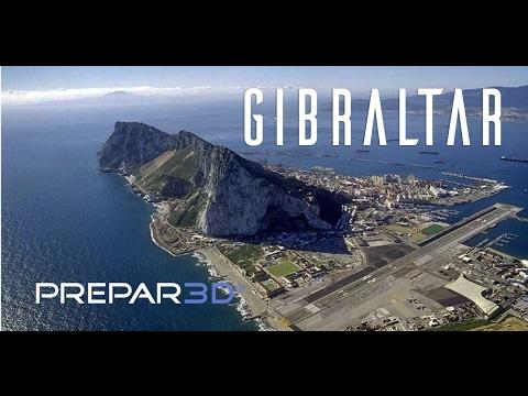 Prepar3D - QW Avro Rj70 - Visual Approach Gibraltar - TrackIR