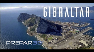 prepar3d qw avro rj70 visual approach gibraltar trackir