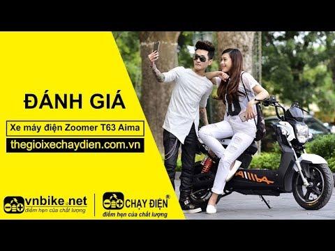 Đánh giá xe máy điện Zoomer T63 Aima
