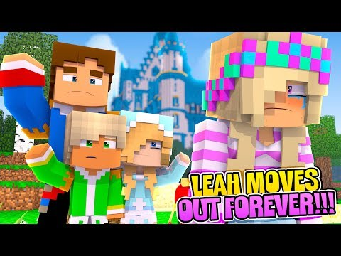 Minecraft LEAH MOVES OUT OF THE PALACE FOREVER!!!- Donny & Leah Adventures