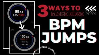 3 Ways To Make Huge BPM Jumps and Sound Like a PRO!!