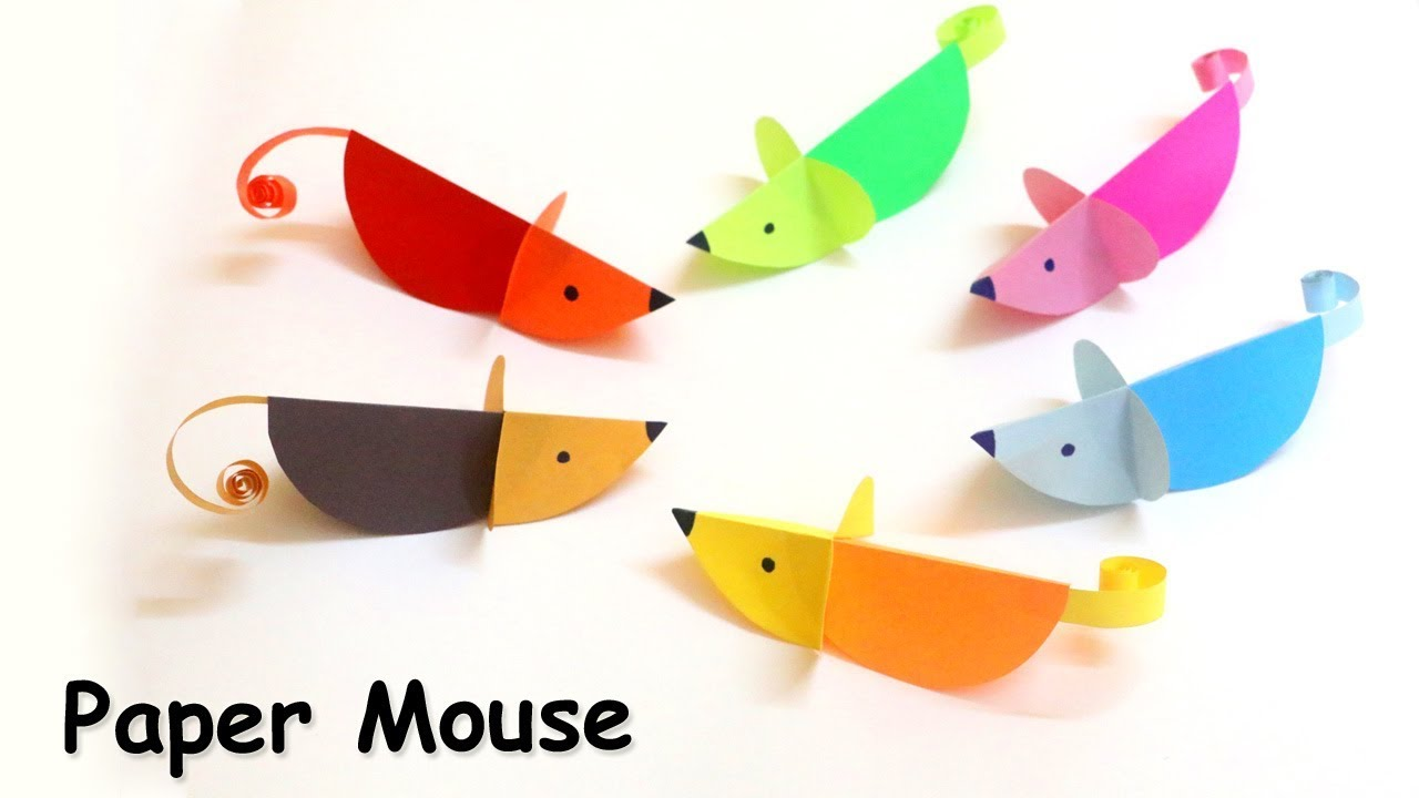 Paper Mouse Craft Easy Paper Craft Ideas For Kids Animal Crafts
