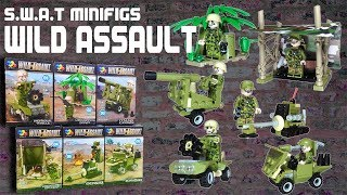 Knockoff Lego SWAT Wild Assault Military Minifigures by Qi Zhi Le