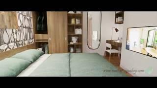 [Aquabay Ecopark] Thiết kế căn hộ 58m2  - Interior 3D Animation