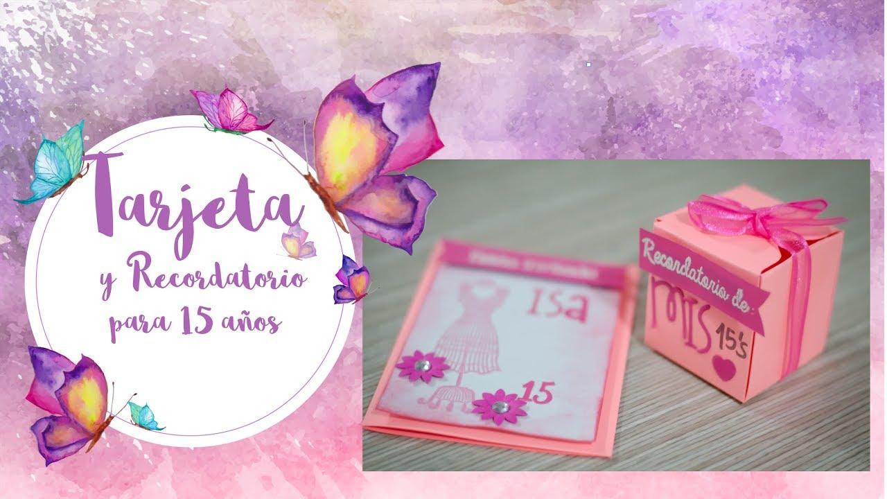 Tarjeta y recordatorio para 15 quince a os diy youtube for Programa decoracion online