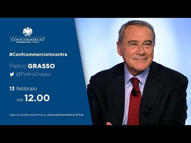 Pietro Grasso a #ConfcommercioIncontra
