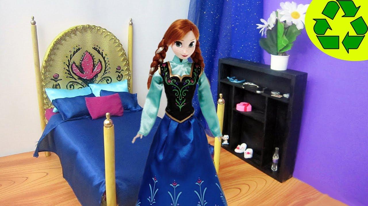 Manualidades para muecas Haz una cama para la mueca Anna o Elsa