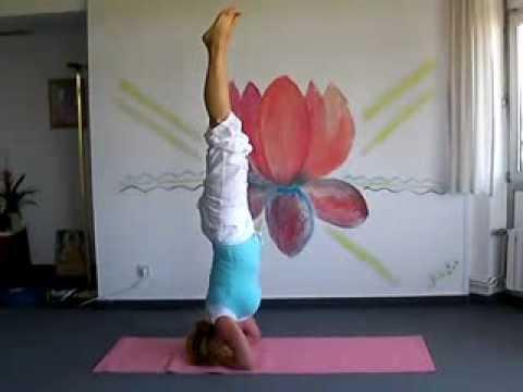 headstand  yoga posture  youtube