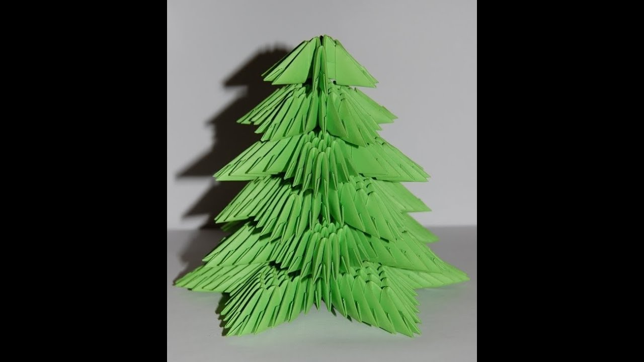 3d origami christmas tree instructions