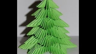 Origami Christmas Tree 3d (choinka Origami)