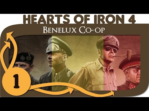 Hearts of Iron 4 - Let's Play Belgium - Ep. 1 - Benelux Multiplayer Coop