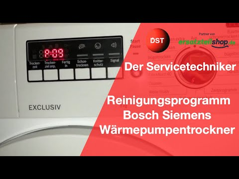 Fehler Behälter Leeren, Das Spülprogramm Für Die Meisten Bosch, Siemens, Constructa Geräte