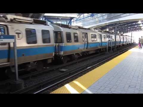 MBTA Blue Line raising the pantagraph