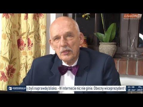 ✪ NA ŻYWO ✪ Janusz Korwin-Mikke - LGBTQZ + pytania 18.03.2019