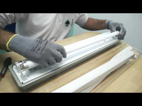 Instalar tubos LED en luminaria con balasto electrónico